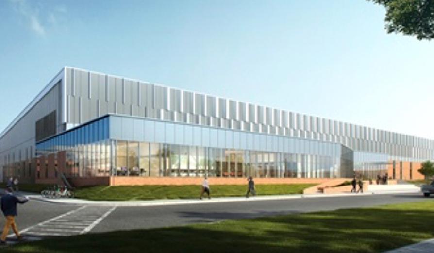 Rendering of Merck FLEx Center on Merck's Rahway campus
