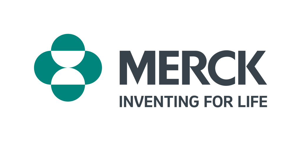 "Logo with green image and the words ""Merck - Inventing for Life"""