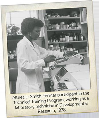 Althea Smith a Merck scientist